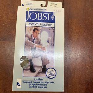 JOBST for Men Compression Socks Khaki Small Knee